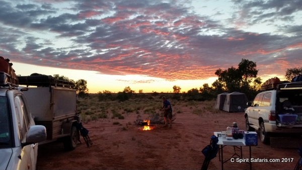 Gibson Great Sandy Desert Tours campfire