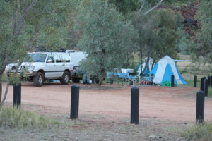 Palm Valley tag along tours campsite