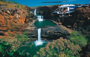Kimberley Broome to Broome Mitchell Falls 11 Day Tour helicopter flight